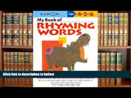 download my book of rhyming words kumon workbooks youtube
