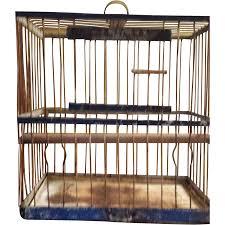 antique 1880 hendryx blue bird cage vintage collectibles vintage
