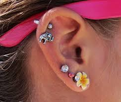 cartilage earrings canada elephant flower cartilage piercing earrings loveitsomuch