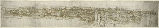 view of rome from the janiculum in the south west verso sketch