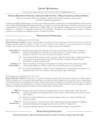 human resources resume exles sle human resources resume exle human resources officer resume
