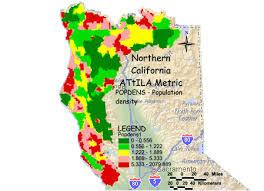 california map population density epa northern california population density metric grid map