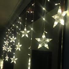 battery operated star lights 3 0 6m led curtain wall l led curtain string light decorative