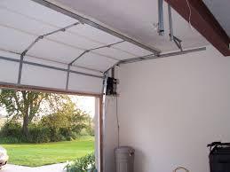garage door opener track high install garage door rails install garage door rails