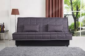 sofa bed storage yoko fabric sofa bed with storage and detachable cover in grey