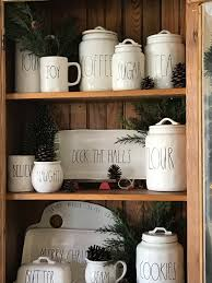 rae dunn christmas farmhouse hutch u2013 beautiful treasures blog