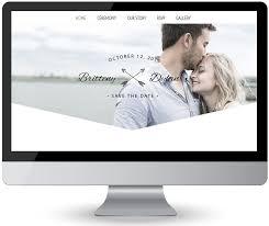 woodland boho style custom wedding website