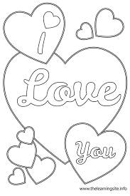 coloring pages of heart coloring pages love you contegri com