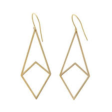 drop earrings gold passport to gold 14k yellow gold geometric drop earrings 8467069