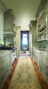 kitchen antique galley kitchen design with distressed cabinet
