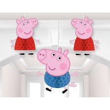 peppa pig decorations peppa pig honeycomb decoration 3 pieces centerpieces and party