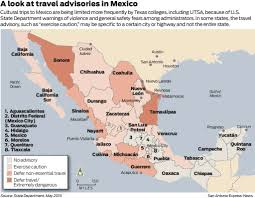 Oaxaca Mexico Map College Students Avoid Mexico Because Of Violence San Antonio