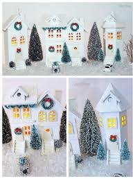 easy diy christmas village fynes designs fynes designs