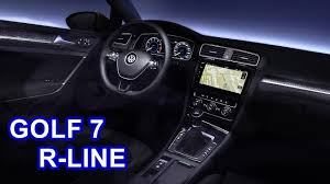 volkswagen golf 2017 interior 2017 volkswagen golf 7 r line interior youtube