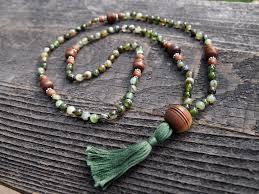 green agate necklace images Green agate wood sacred mala munay healing arts jpg