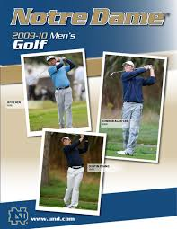 2009 10 notre dame men u0027s golf information guide by chris masters