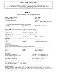 theatrical resume format actor resume format resume format theater resume resume sle