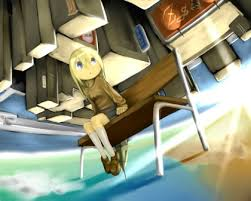 Upside Down Bench Blondes Blue Eyes Bench Upside Down Anime Girls 1280x1024