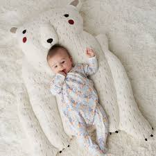 Bear Rug For Kids by Polar Bear Baby Play Mat The Land Of Nod