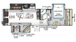 forest river 5th wheel floor plans 2018 forest river rockwood signature ultra lite 8299bs model
