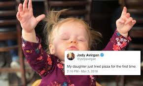 Meme Little Girl - this photo of a little girl trying pizza for the first time just