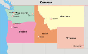 road map northwest usa northwestern states road map region maps business wall map of the