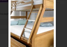 Three Sleeper Bunk Bed Artisan Oak Three Sleeper Bunk Bed Bedstar Co Uk