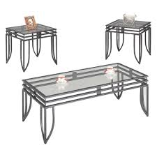 coaster occasional table sets contemporary 3 piece occasional
