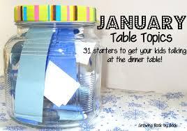 january table topics