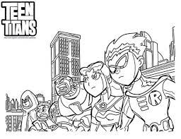 20 free printable teen titans coloring pages everfreecoloring