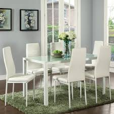 contra 7pc dining set in whte dining sets dining products