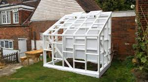 building a glass walled wooden lean to greenhouse youtube