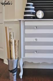 Painting Black Furniture White by Sophia U0027s Paris Grey U0026 White Striped Dresser