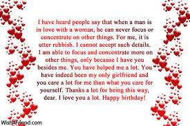 i have heard people say that birthday wish for girlfriend