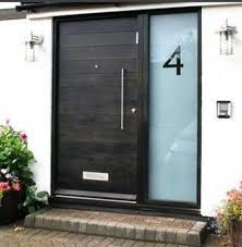 Glass Front House Plain Black Glass Front Door And W In Decorating