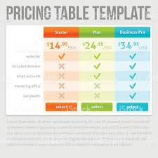 pricing table template stock vector art 483842300 istock