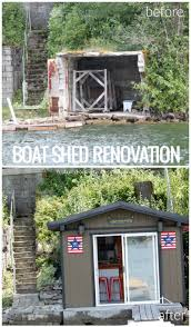 House Renovation Before And After Remodelaholic Before And After Boat Shed Renovation Into Bar