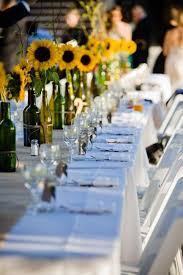 wedding table decorations ideas beautiful flowers and unique sunflower wedding decorating ideas