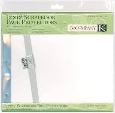 scrapbook page protectors k company post bound page protectors drawing pad 12