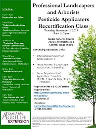 professional landscapers and arborists pesticide applicators re
