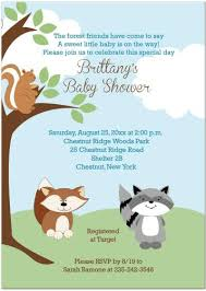 woodland baby shower invitations adorable animals baby shower invitations