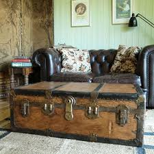 Vintage Trunk Coffee Table Vintage Steamer Trunk Coffee Table Interior Home Design