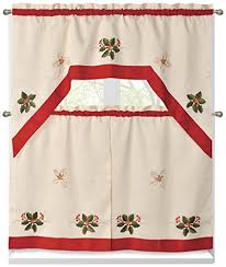 Ladybug Kitchen Curtains by Kitchen Christmas Curtains Amazon Com