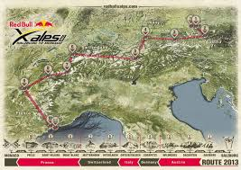 Alps On World Map by 2013 Red Bull X Alps Route Revealed Red Bull X Alps