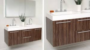 fresca opulento walnut modern double sink bathroom vanity w