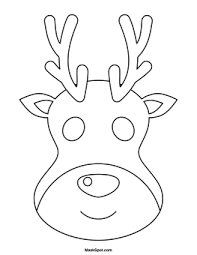 goat mask coloring page printable reindeer template etame mibawa co