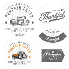 vintage thanksgiving clipart set of vintage thanksgiving day emblems signs and design elements