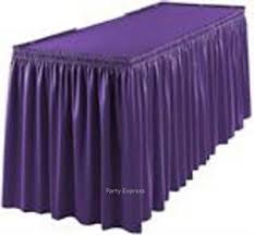 tableskirt tablecover 20 colours plastic party table skirts covers