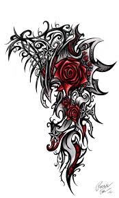 best 25 tribal rose tattoos ideas on pinterest tribal rose