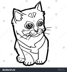 cat coloring pages for kids cat coloring page kid stock vector 333118367 shutterstock